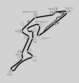 Route of the modern Nürburgring GP-Strecke for Formula One races