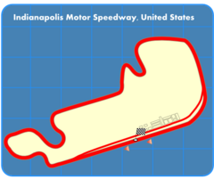 Route of the Formula One United States Grand Prix circuit